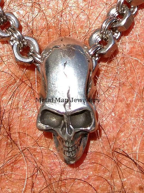 Small Stainless Steel Skull