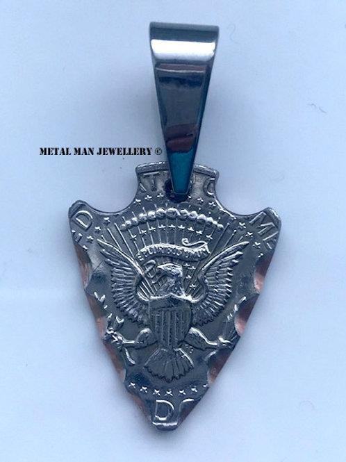 AR - Coin arrowhead pendant