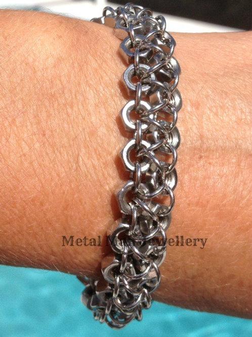 C - M4 2 Strand Hex Nut Bracelet