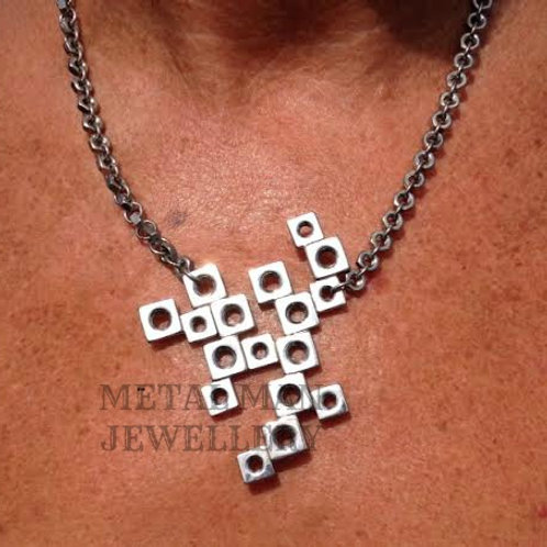 BN - Square Nut Pendant on an M3 hex nut chain