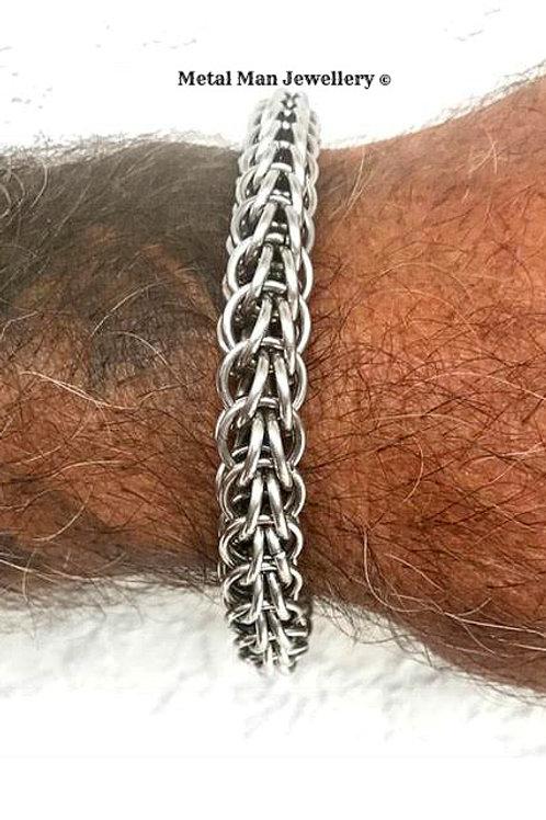 CM - 10mm diameter Unisex Full Persian Chainmaille Bracelet
