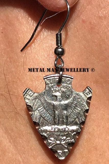 ARE - Quarter arrowhead earrings