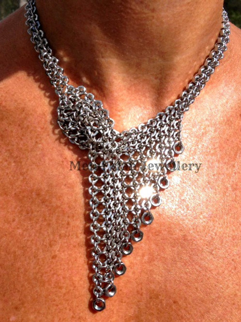 VW - Vintage style wrapover hex nut necklace