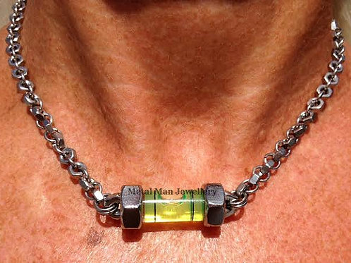 LA - Level necklace on M3 hex nut chain