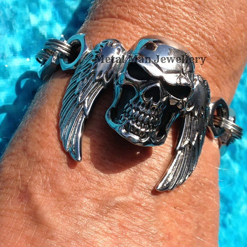 SW11 - Unisex Skull and Wing Bracelet