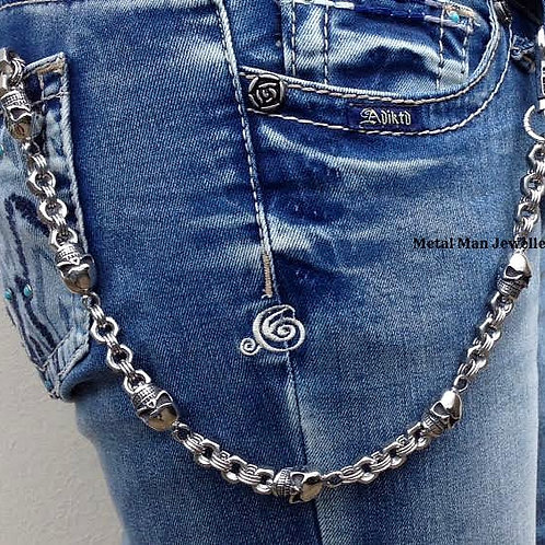 WD - Skull & Nut Wallet Chain