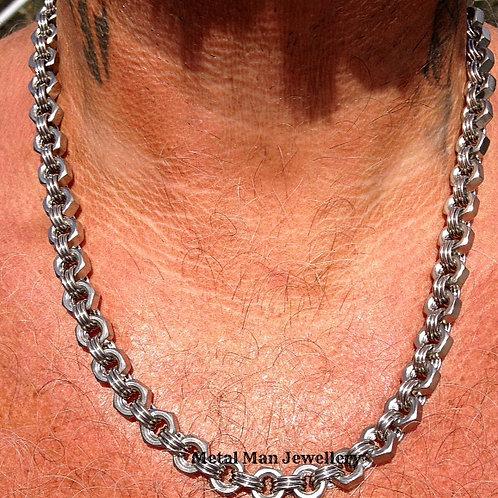 M6 3 Ring Hex Nut Chain - price per inch