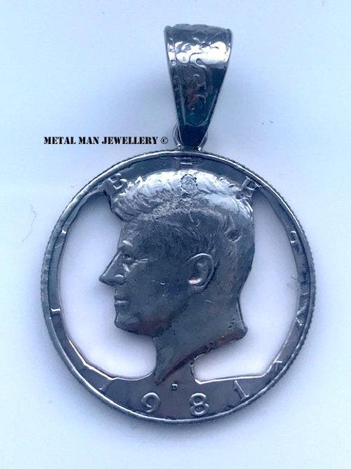 1/2 dollar pendant