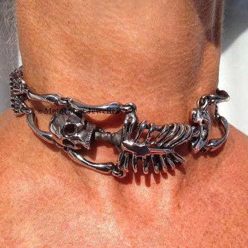 SK - Skeleton choker necklace