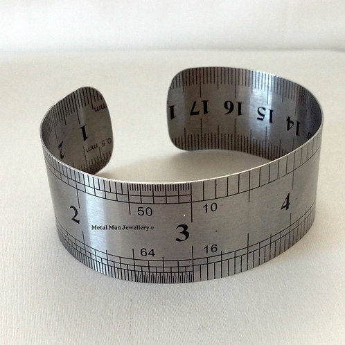 RUL - Stainless steel large width bangle
