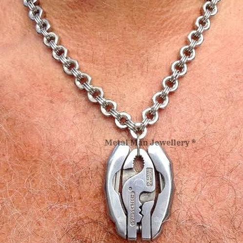TK - Tool kit pendant on M6 hex nut necklace