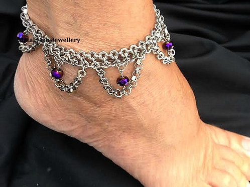 FL - Hex Nut and bead ankle cuff