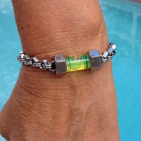 L2 - Unisex Level & M4 hex nut bracelet