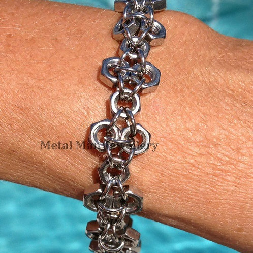 F2 - M4 patterned hex nut bracelet