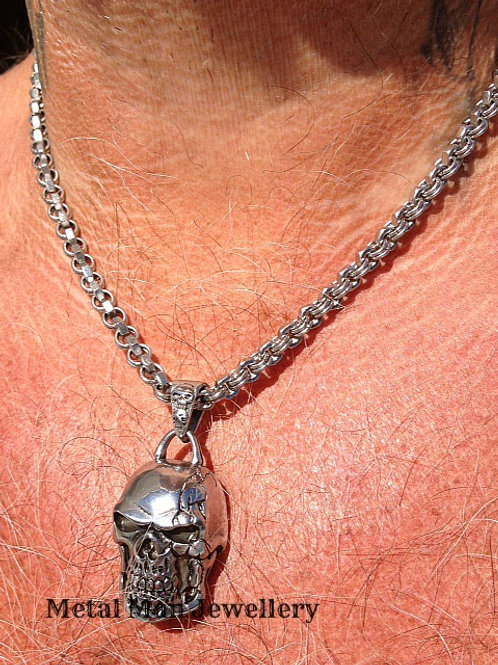 "SC1 - 22"" Hex Nut Necklace and Large Skull"