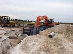 Drainage, trench box, excavation