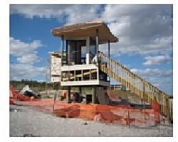 Delray Lifeguard Towers, timber pile