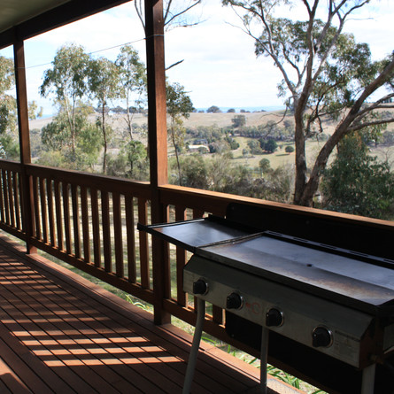 Relax on the cabin balcony or cook a BBQ