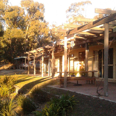 The guest house is part of the eco-designedConmurra Homestead