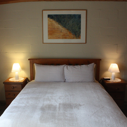 Two queen beds in the guest house