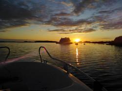 Sunset in Baablinginlahti
