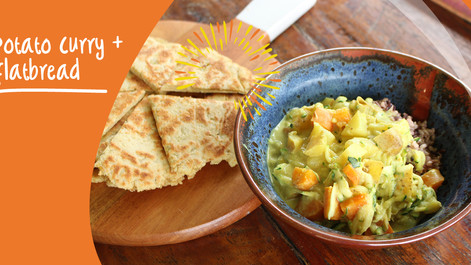 Potato Curry & Flatbreads