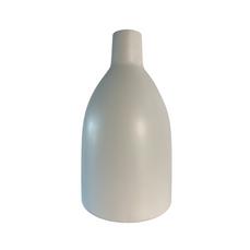WHITE CERAMIC TAPERED URN (33cm x 16cm)