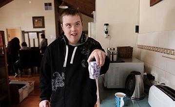 Man holdinga coffee mug