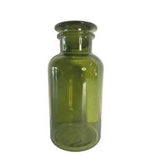 GREEN SPECIMEN JAR W. LID (22cm)