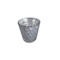 TEALIGHT SILVER DIAMOND (6cm)