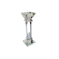 TAPER HOLDER SQUARE CYSTAL (21.5cm)