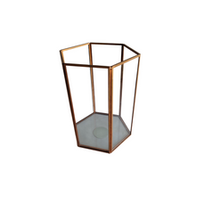 HEXAGON GOLD CANDLE HOLDER