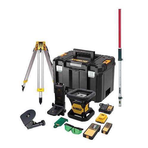 18V XR Li-Ion Self-Levelling GREEN Rotary Laser Kit