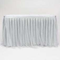 TULLE SATIN TABLE SKIRT (GREY)