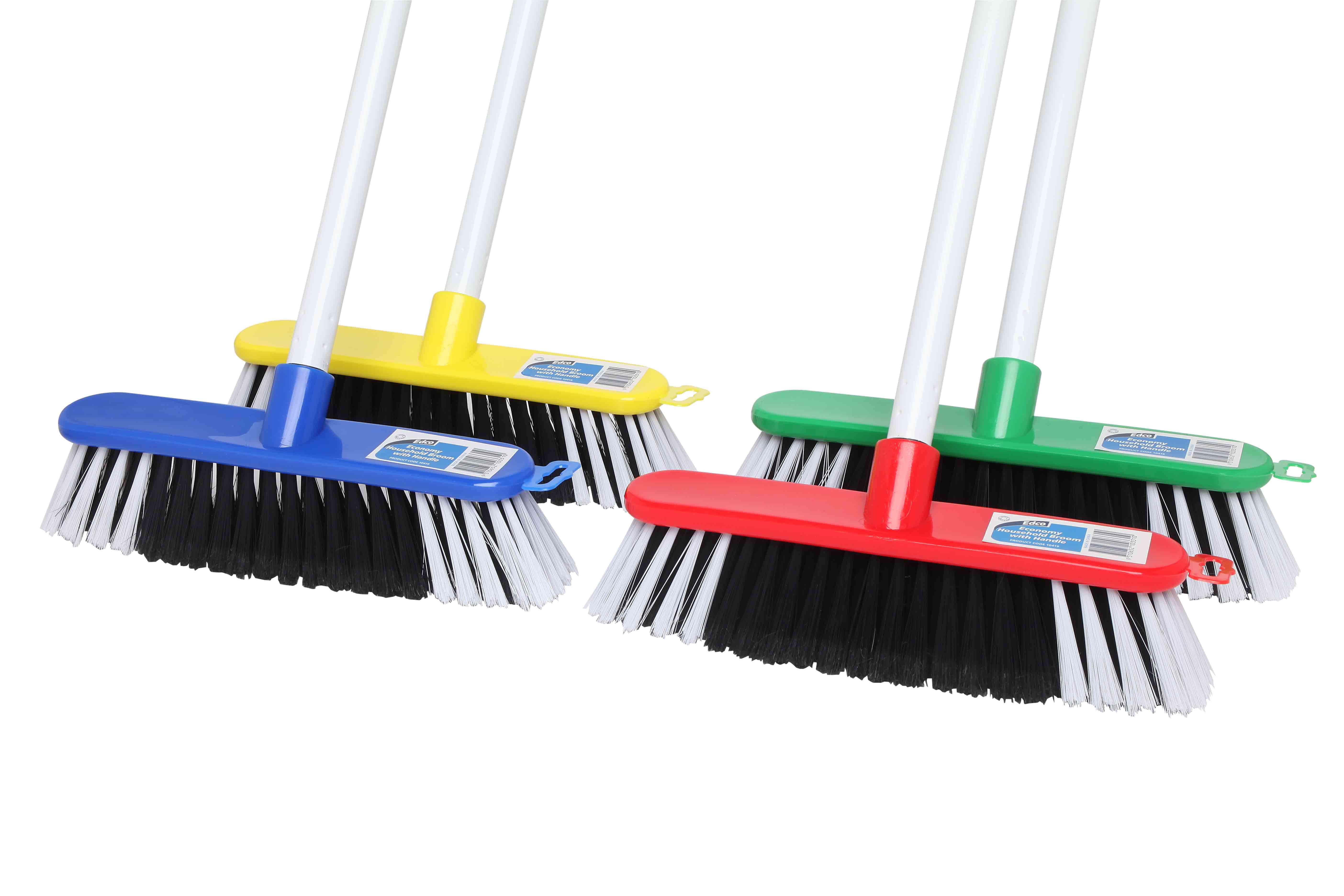 Economy Household Broom w/ Handle