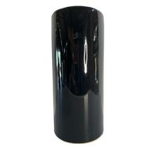 BLACK CERAMIC VASE (38.5cm)