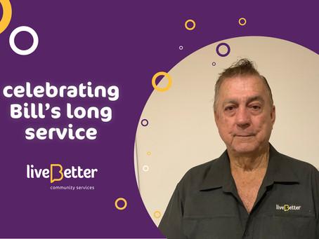 Celebrating Bill's long service