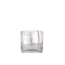 GLASS SQUARE VASE (12cm x 12cm)