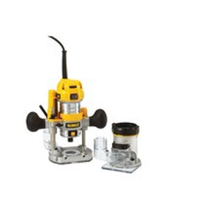 """900W 6.35mm ( 1/4"""" ) Premium Plunge & Fixed Base Router Combination"""