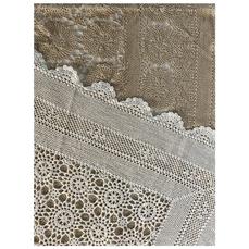 CROCHET TABLE CLOTH (CREAM & WHITE)