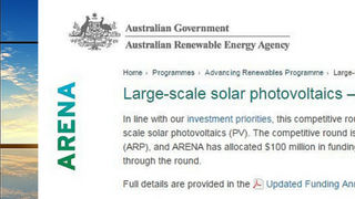 Large-scale Solar Projects & ARENA Data