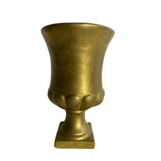 GOLD CEMENT URN (20cm x 12cm)