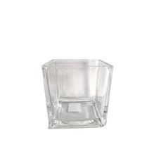 GLASS SQUARE VASE (10cm x 10cm)