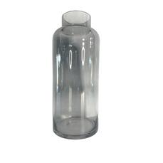 GLASS GREY VASE (30cm x 12cm)