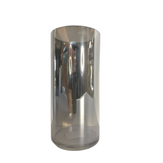 GREY GLASS MIRRORED VASE