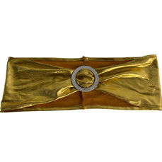 GOLD CHAIR SASH WITH DIAMONTE BUCKLE