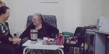 Lady in wheelchair with home carer