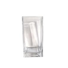 GLASS SQUARE VASE (10cm x 20cm)