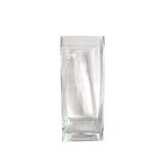 GLASS SQUARE VASE (10cm x 25cm)