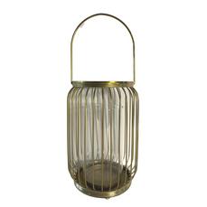 LANTERN - GOLD GLASS (26cm x 14cm)